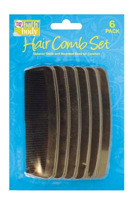 View HAIR COMB SET 6 PACK 4.5 INCH