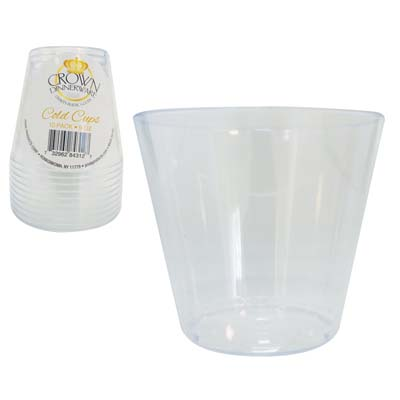 View CROWN DINNERWARE COLD CUPS 10 PK 9 OUNCE PLASTIC