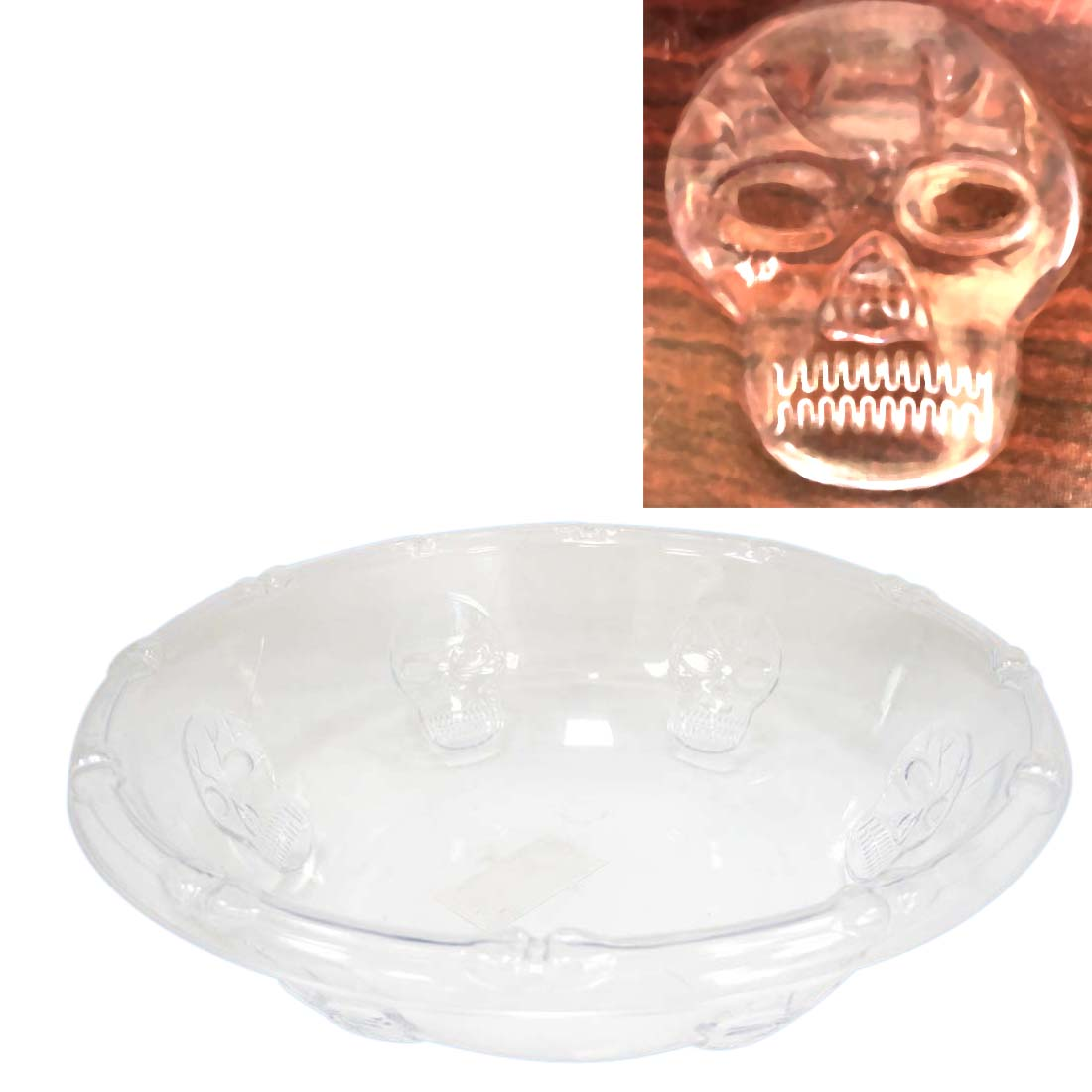 View BOWL 12 X 3.5 INCHES CRYSTAL PLASTIC  HALLOWEEN DESIGN