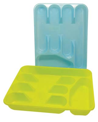 View CUTLERY TRAY 13 X 10 INCHES ASSORTED COLORS