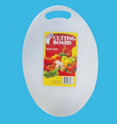 View PLASTIC CUTTING BOARD 12 X 8.5 INCH OVAL