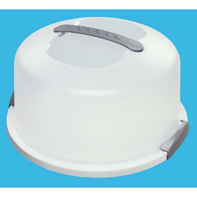 View STERILITE CAKE SAVER HOLDS 12 INCH CAKE ROUND WITH LOCKING LID ** MADE IN USA **
