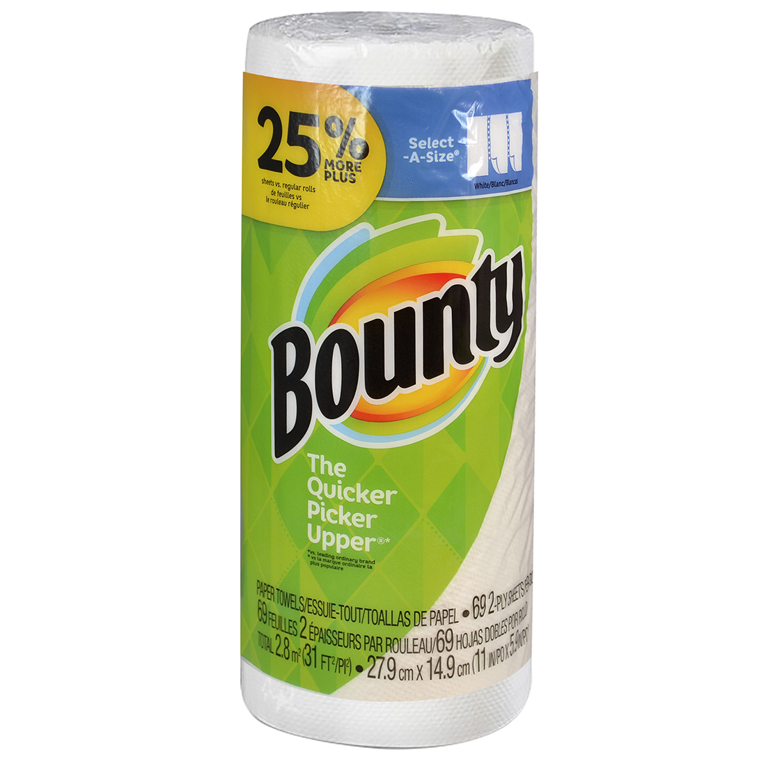 View BOUNTY PAPER TOWELS 79-2 PLY SHEETS SELECT-A-SIZE LARGE ROLL INDIVIDUALLY WRAPPED ** LIMIT 20*
