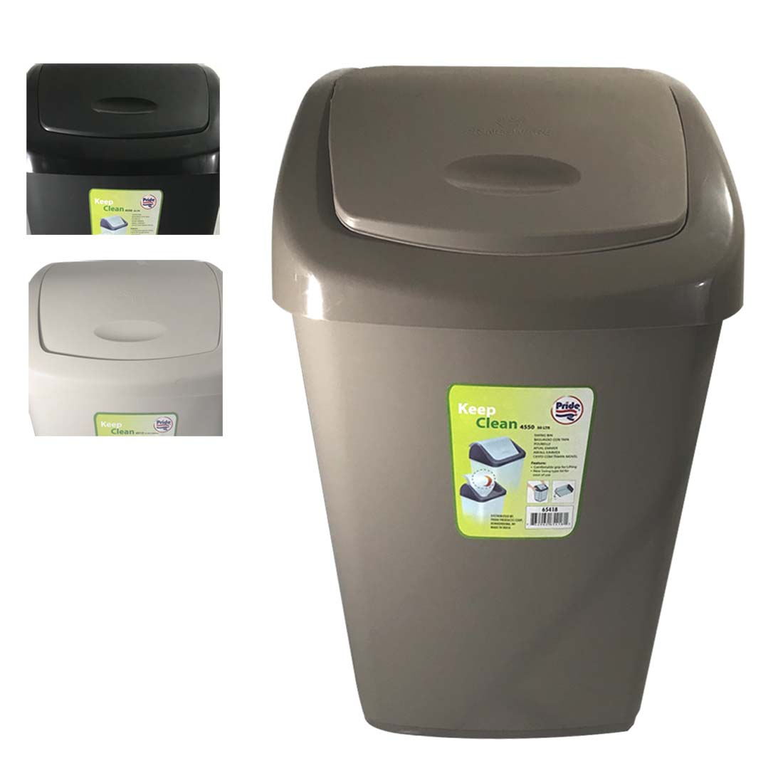 View TRASH BIN 4 GALLON WITH SWING TOP LID