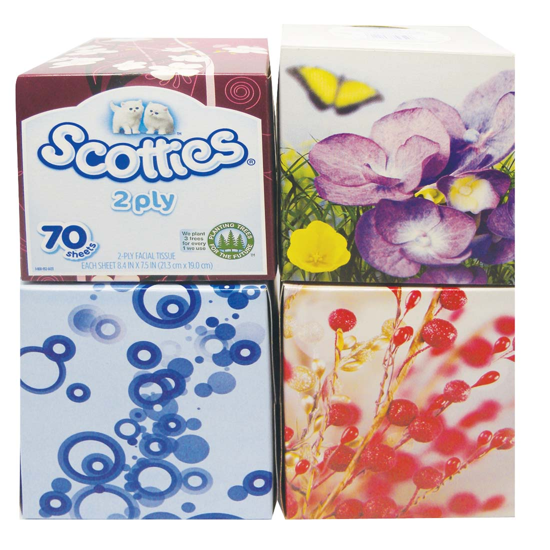 View SCOTTIES FACIAL TISSUE 70 2-PLY SHEETS