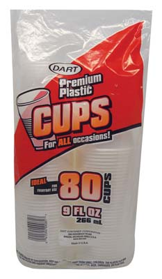 View DART PLASTIC CUP 80 CT 9 OZ **MADE IN USA**