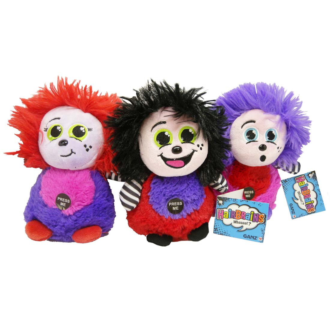 View HAIRBRAINS PLUSH TOY 6 INCH WITH SOUND ASSORTED