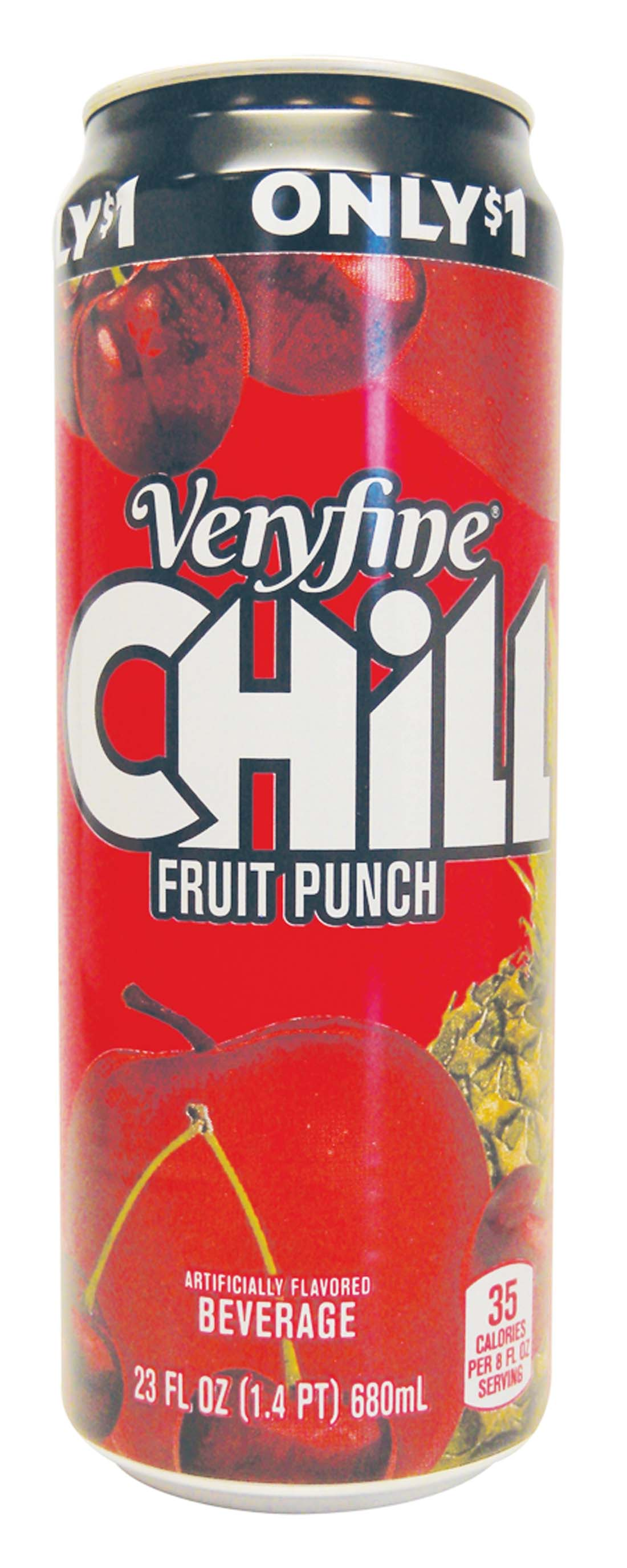 View VERY FINE CHILL JUICE DRINK 23 OZ FRUIT PUNCH PREPRICED $1