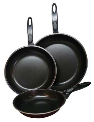 View GIBSON AVENTURA FRY PAN SET 3 PIECE INCLUDES-ONE EACH 7 INCH/ 9 INCH/ 11 INCH PANS