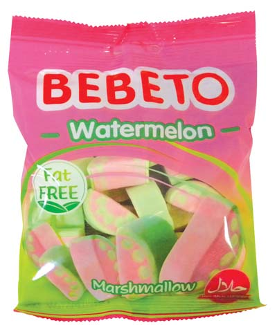 View BEBETO MARSHMALLOW 2 OZ WATERMELON ON CLIP STRIP