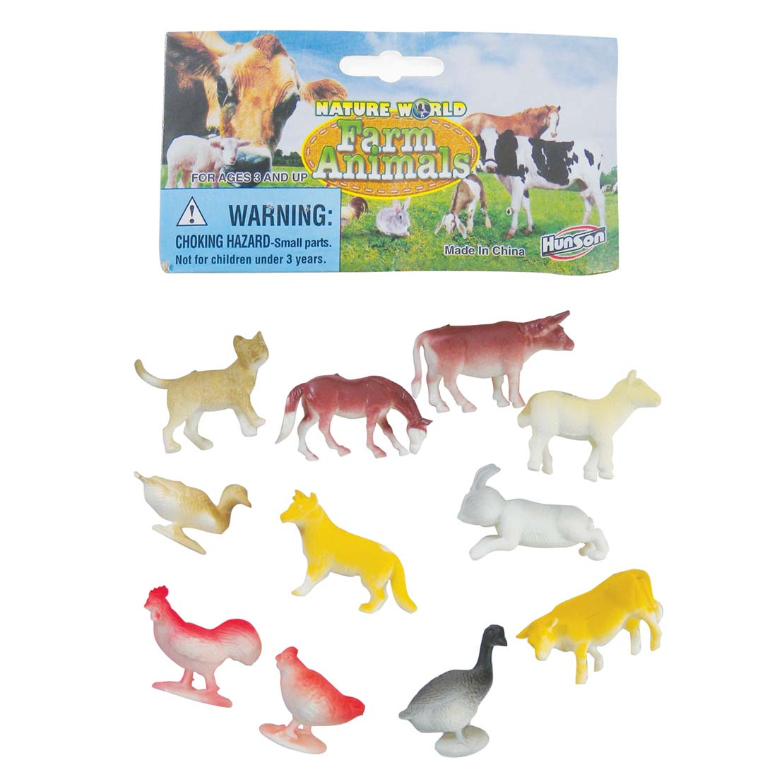 View FARM ANIMALS PLASTIC 1-2 INCH 12 PACK ASSORTED