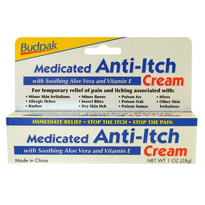 View MEDICATED ANTI-ITCH CREAM 1 OZ WITH VITAMIN E & ALOE