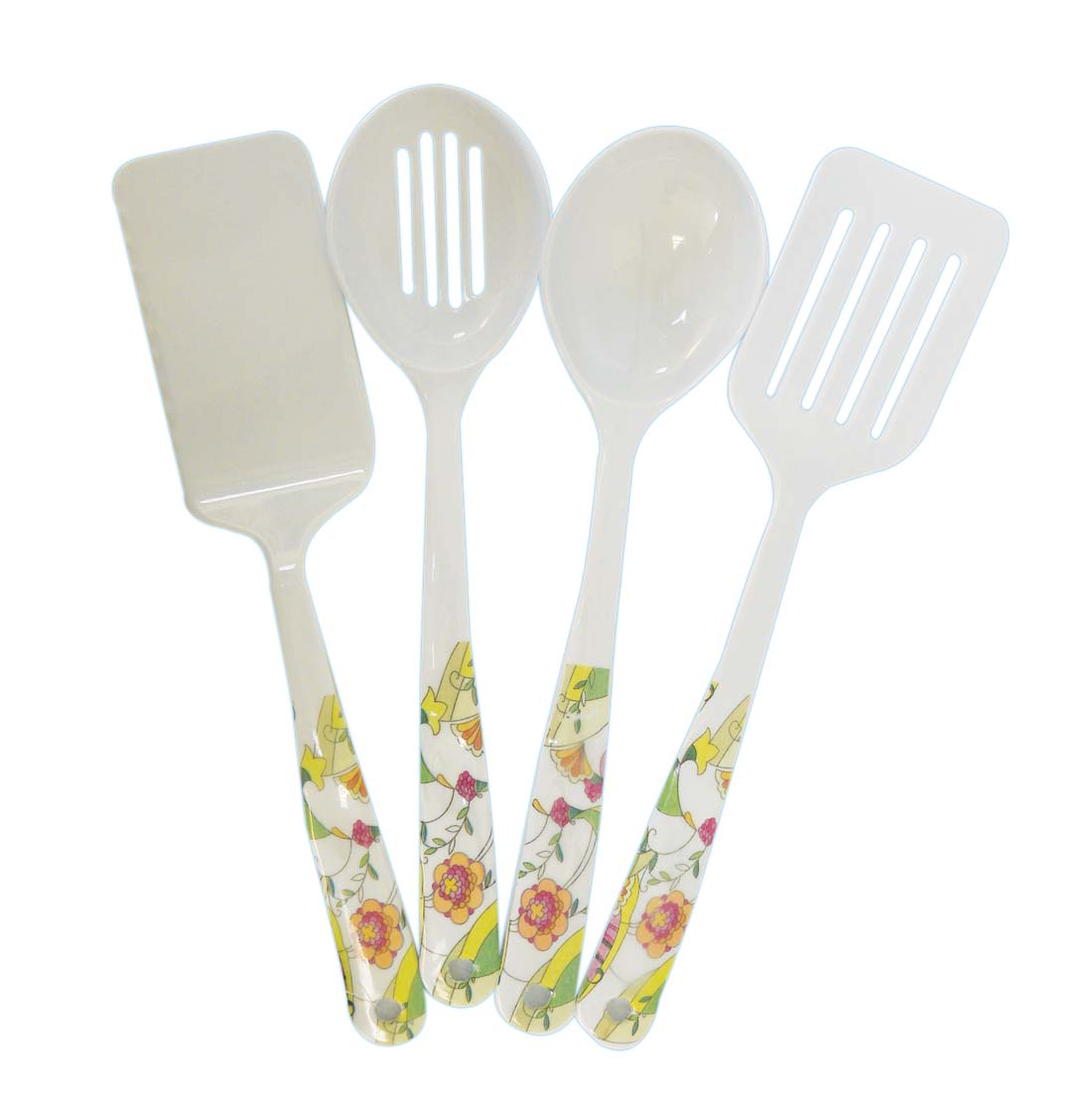 View  SERVING UTENSILS 2 SLOTTED/2 SOLID  SPATULA AND SPOON MELAMINE