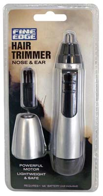 View FINE EDGE TRIMMER FOR NOSE & EAR HAIR BATTERY OPERATED (AA NOT INCLUDED)