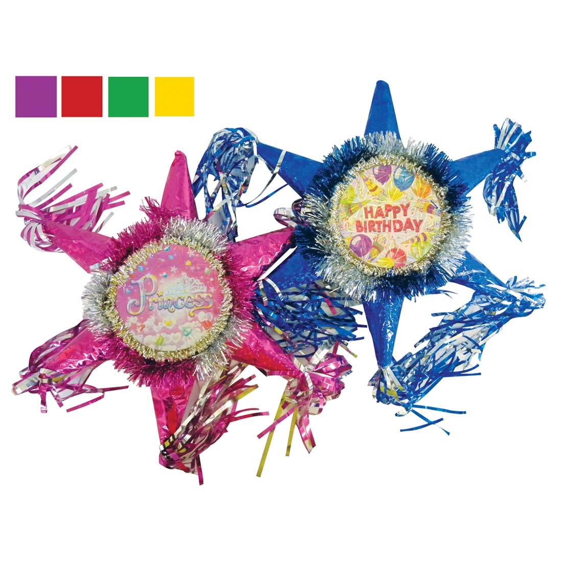 View PARTY PINATA 11 INCH ASSORTED COLORS & DESIGNS