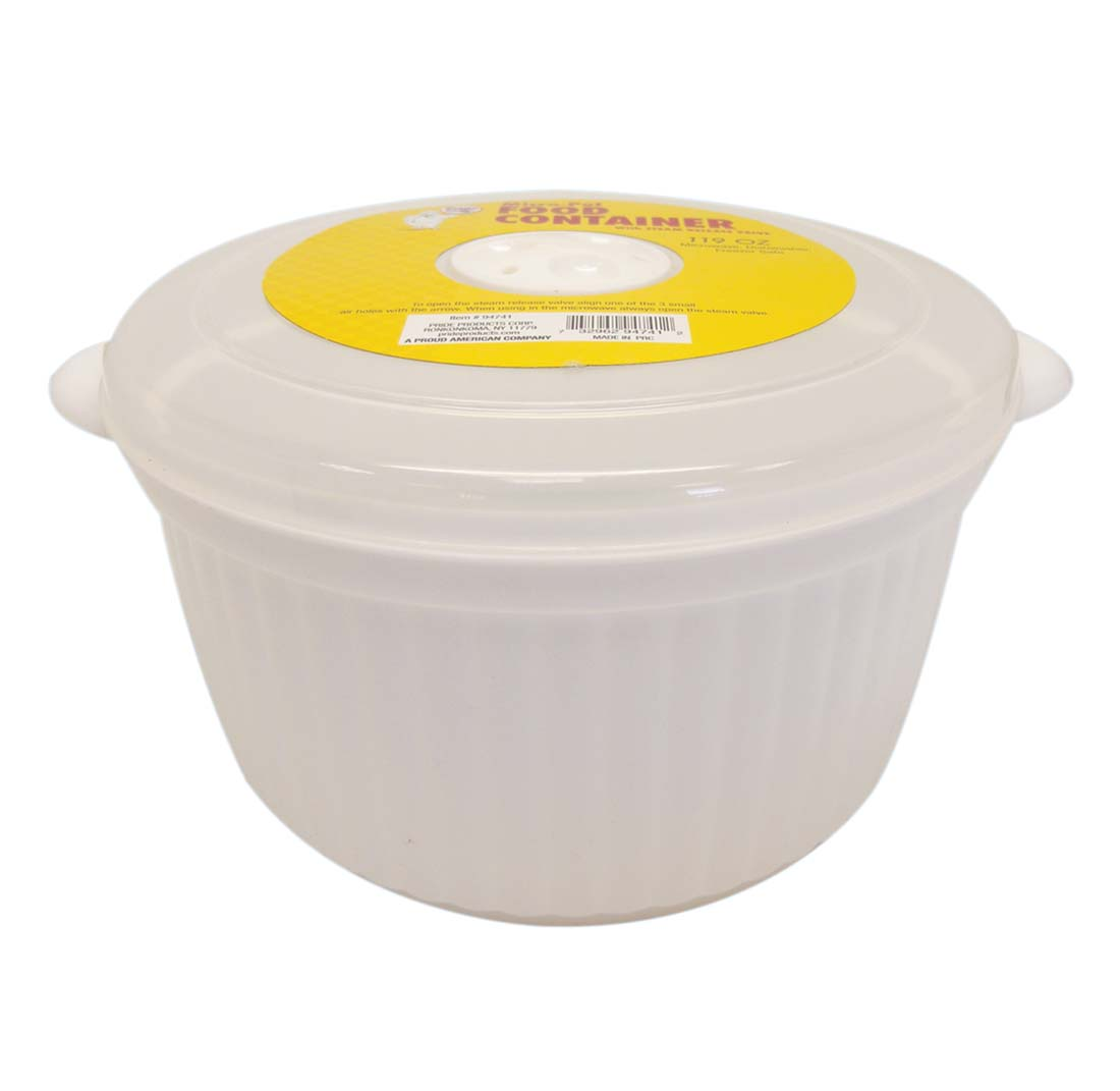 View FOOD CONTAINER 119 OZ ROUND WITH STEAM VALVE LID