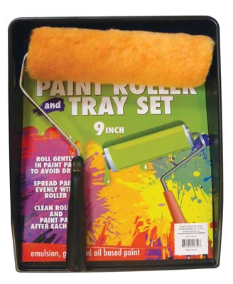 View PAINTING SET 2 PIECE WITH 9 INCH ROLLER AND TRAY