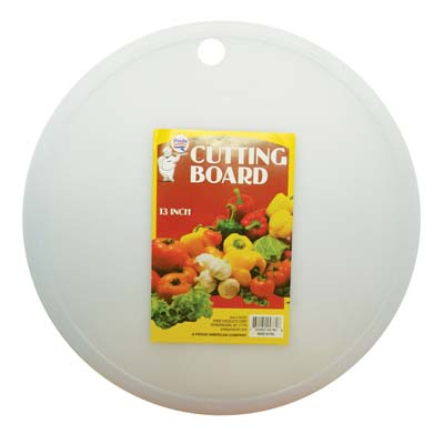 View PLASTIC CUTTING BOARD 13 INCH ROUND