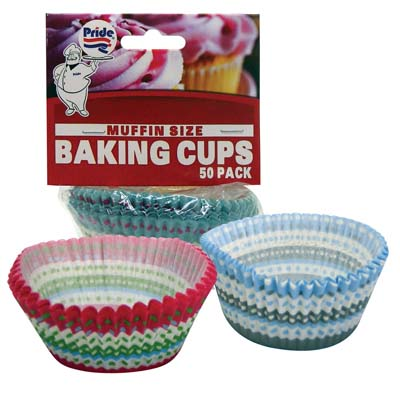 View BAKING CUP 50 COUNT MUFFIN SIZE ASSORTED WINTER COLLECTION