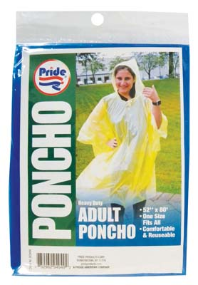 View ADULT PONCHO 52 X 80 INCH ASSORTED COLORS
