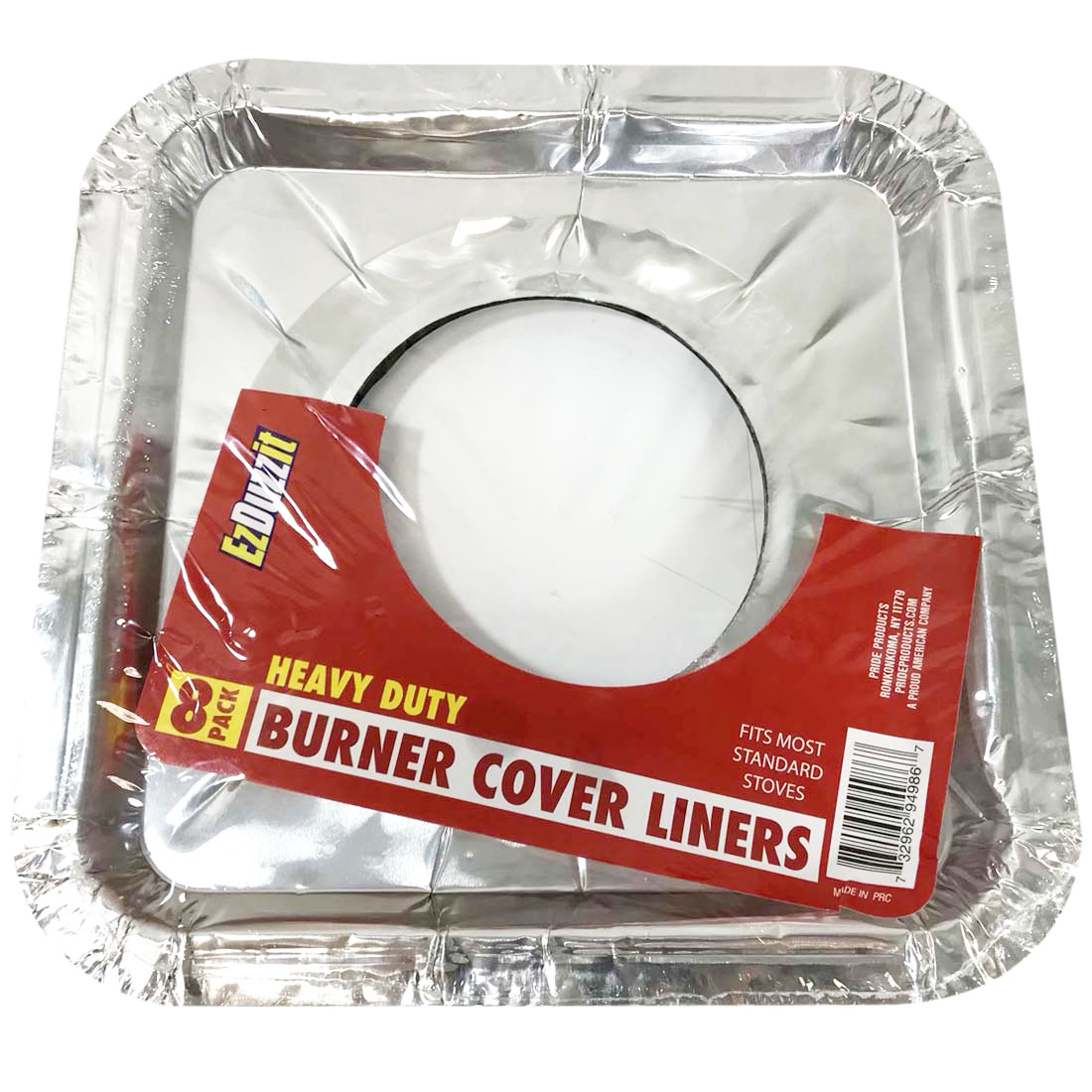 View FOIL BURNER LINER 8 PACK 8.5 X 8.5 INCHES HEAVY DUTY