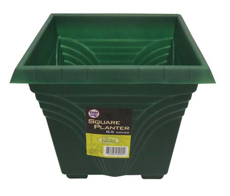 View PLANTER 8.5 X 8.5 X 7.5 INCH SQUARE GREEN