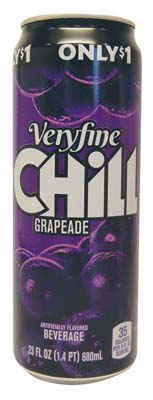View VERY FINE CHILL JUICE DRINK 23 OZ GRAPE PREPRICED $1