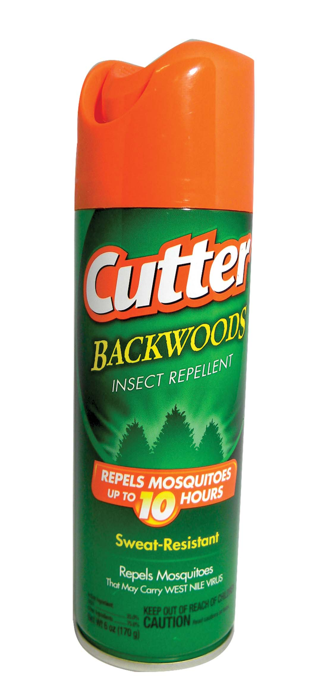 View CUTTER INSECT REPELLENT 6 OZ BACKWOODS AEROSOL SPRAY SWEAT RESISTANT ** MUST BE BROKEN**