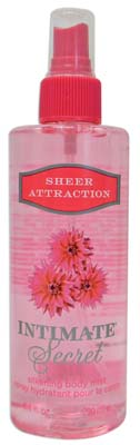 View INTIMATE SECRETS BODY MIST 8.4 OZ SHEER ATTRACTION