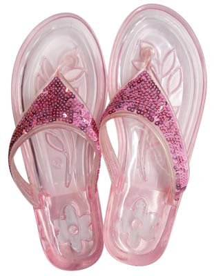 View LADIES EMBELLISHED JELLY FLIP FLOPS ASSORTED SIZES 5-11