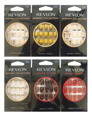 View REVLON PRESS ON NAILS ASSORTED COLORS AND DESIGNS
