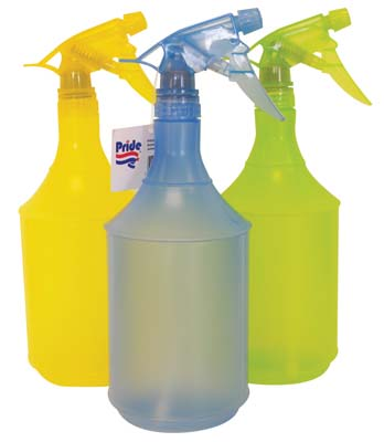 View PRIDE PLASTIC SPRAY BOTTLE 32 OZ ASSORTED COLORS